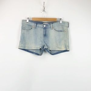 Levi's Light Wash Booty Denim Shorts
